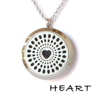 Stainless Steel Diffuser Pendant - Heart