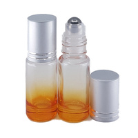 5ml Orange Ombre Thick Glass Roller Bottle