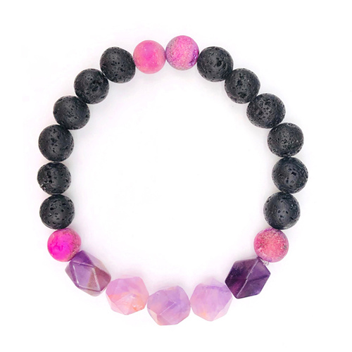 Lava Bead Bracelet - Bloom