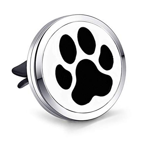 Stainless Steel Car Diffuser Clip - Paw Print
