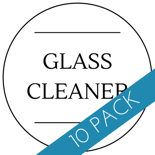 Glass Cleaner Label 60 x 60mm - 10 Pack