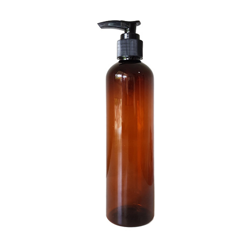 250ml Amber Lotion Pump Bottle - Plastic