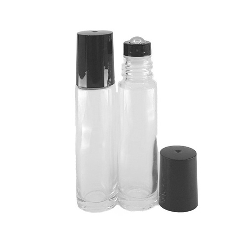 10ml Clear Thick Glass Roller Bottle